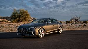 Fotos Audi Graue Metallisch Limousine S4, TFSI, B9, 2020 auto