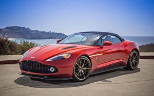 Hintergrundbilder Aston Martin Rot 2018 Vanquish Zagato Volante Autos