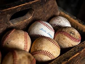 Desktop hintergrundbilder Hautnah Ball Alt Baseball sportliches
