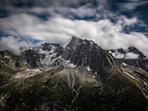 Bilder Frankreich Berg Wolke Alpen Les Drus, le Montenvers, France Natur