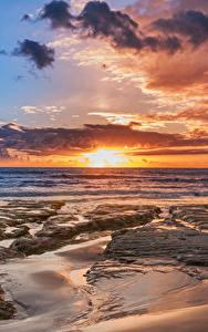 Hintergrundbilder Italien Autonome Region Sizilien Küste Sonnenaufgänge und Sonnenuntergänge Himmel Wolke