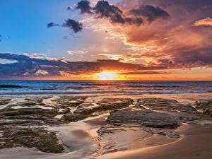 Hintergrundbilder Italien Autonome Region Sizilien Küste Sonnenaufgänge und Sonnenuntergänge Himmel Wolke Natur