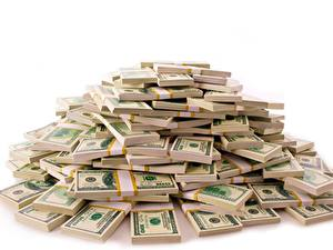 Hintergrundbilder Geld Geldscheine Dollars Weißer hintergrund