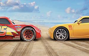 Fonds d'écran Cars 3 Deux Jaune Rouge Lightning McQueen, Cruz Ramirez