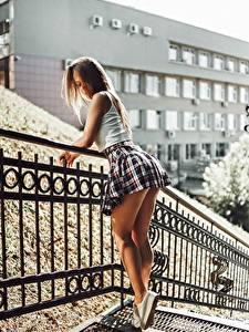 Fotos Bein Rock Hübsche Zaun Artem Soloviev, Tatiana Fesenko junge Frauen