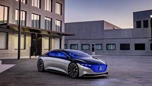 Images Mercedes-Benz Silver color 2019 Vision EQS auto