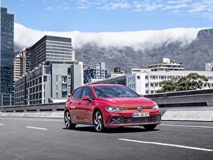 Papel de Parede Desktop Volkswagen Vermelho 2020 Golf GTI Worldwide automóvel