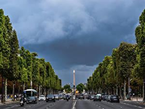 Bilder Frankreich Wege Paris Champs Elysees Städte