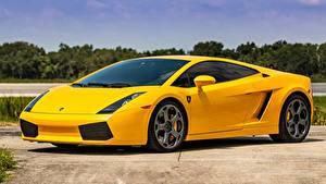 Fotos Lamborghini Gelb Metallisch Gallardo Autos