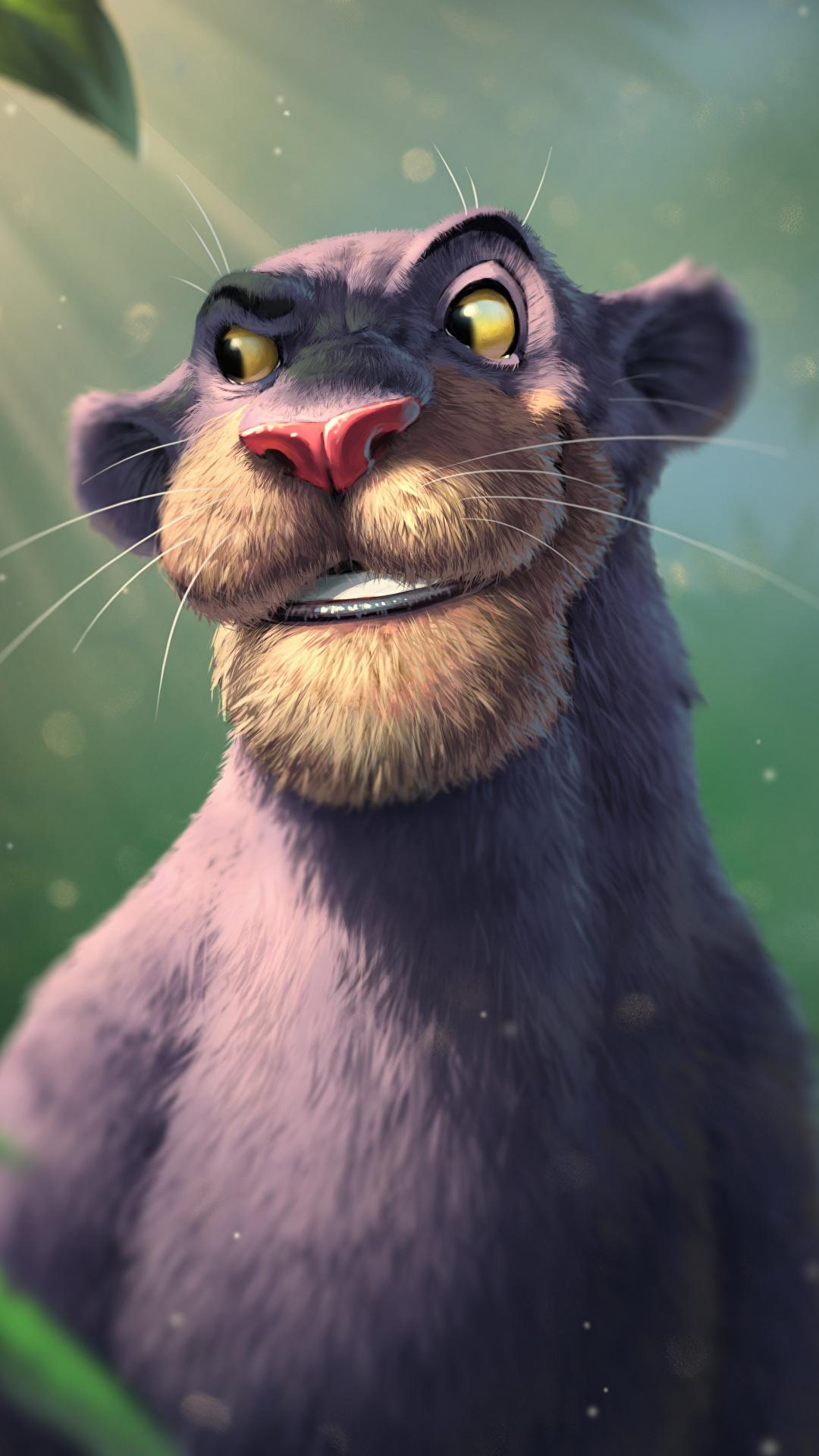 Bilder von Schwarzer Panther The Jungle Book, Bagheera Animationsfilm 1080x1920 Zeichentrickfilm