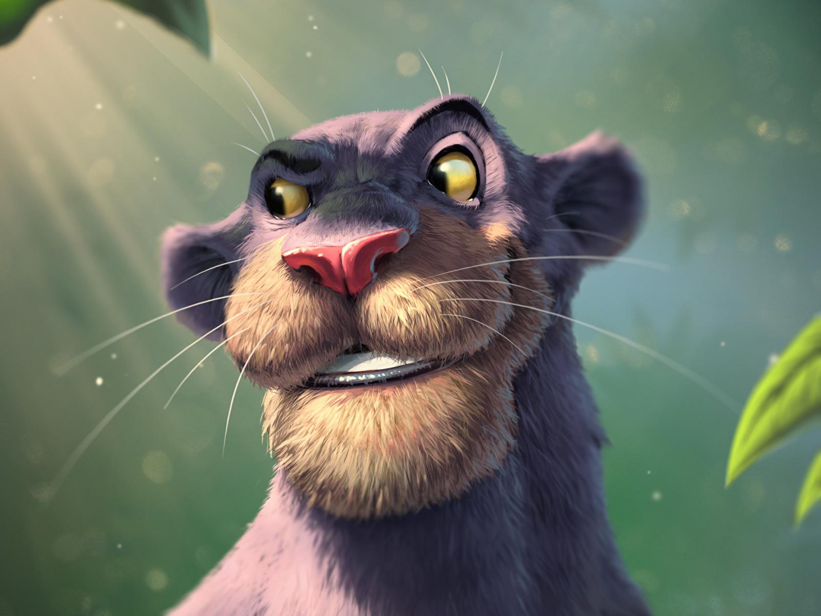 Bilder von Schwarzer Panther The Jungle Book, Bagheera Animationsfilm 1600x1200 Zeichentrickfilm