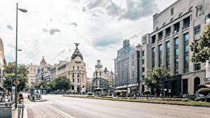 Fotos Madrid Spanien Haus Straße Straße