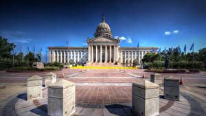 Fotos USA Haus Platz HDR Oklahoma State Capitol Städte