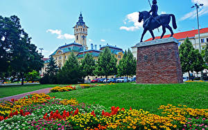 Fotos Ungarn Haus Denkmal Rasen Bäume Szeged