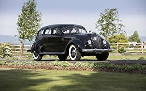 Image Chrysler Retro Black Metallic 1936 Imperial Airflow Sedan