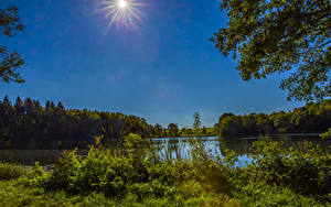 Hintergrundbilder Deutschland Flusse Sonne Gillenfeld