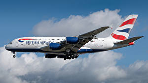Hintergrundbilder Airbus Flugzeuge Verkehrsflugzeug Seitlich British Airways