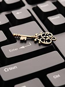 Fotos Tastatur Großansicht Schlüssel Computers