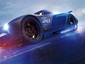 Wallpapers Cars 3 Blue Jackson Storm