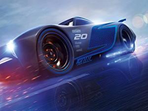 Hintergrundbilder Cars 3 Blau Jackson Storm
