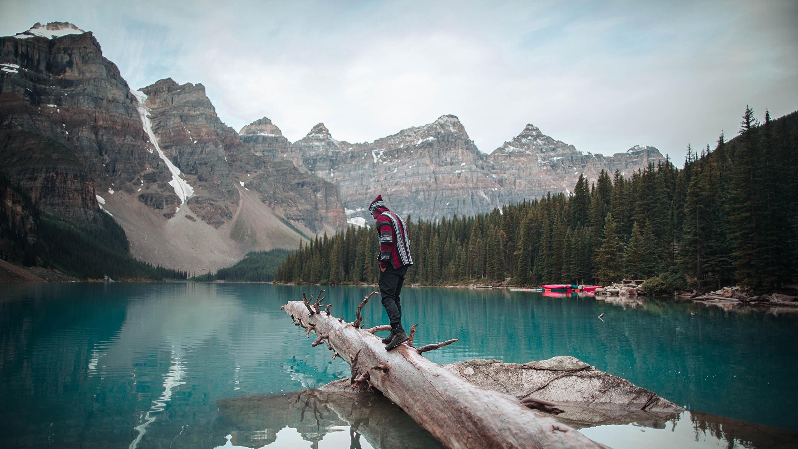 Desktop Wallpapers Banff Traveler Canada Moraine Lake 2560x1440