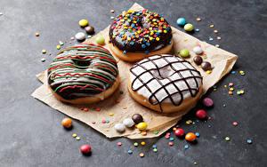 Bilder Donut Backware Schokolade Zuckerguss