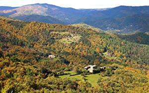 Bilder Frankreich Landschaftsfotografie Wälder Herbst Hügel Saint Hilaire de Lavit Natur