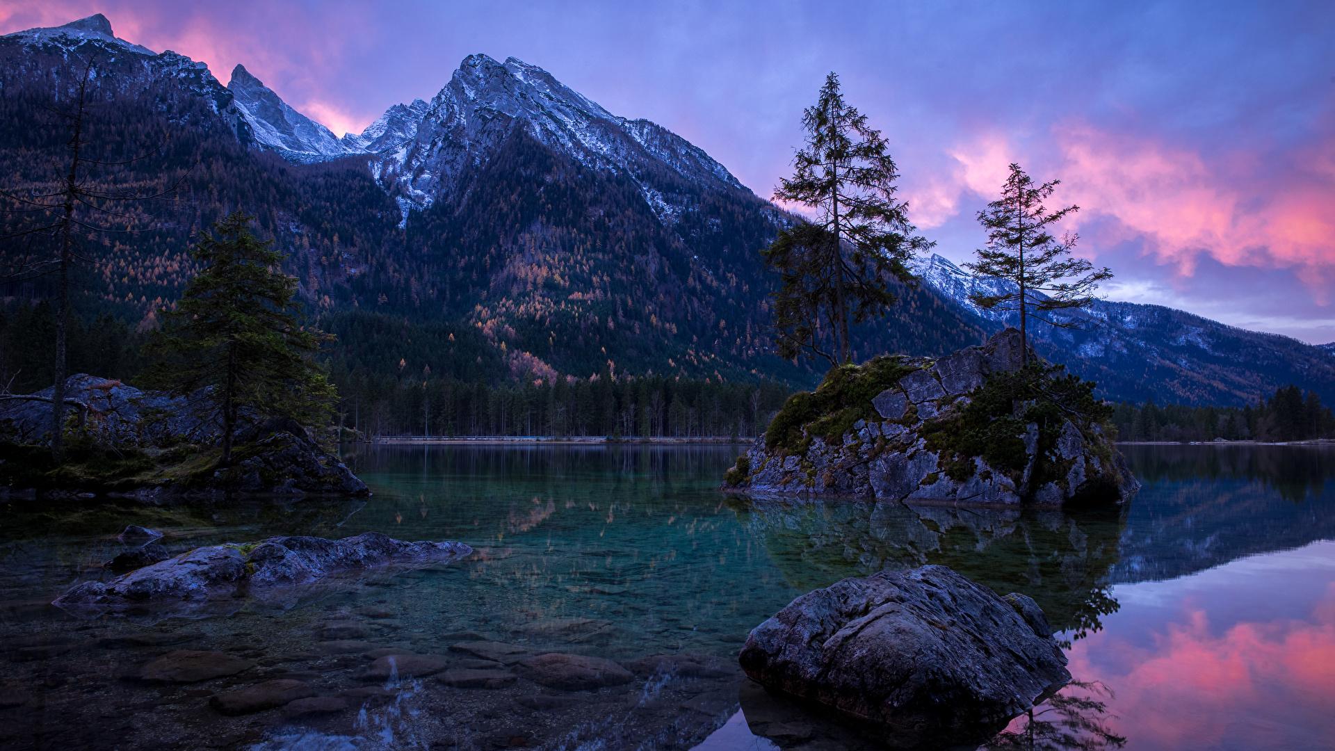 Wallpaper Bavaria Germany Nature Mountain Landscape 1920x1080