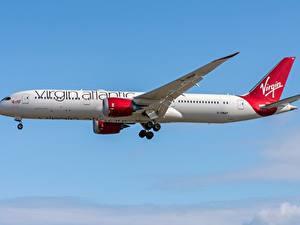 Bilder Verkehrsflugzeug Boeing Seitlich 787-9 Virgin Atlantic Airways