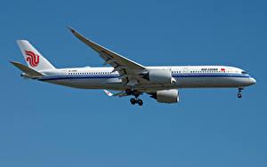 Fotos Airbus Flugzeuge Verkehrsflugzeug Seitlich A350-900, Air China