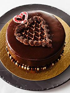 Fotos Süßware Torte Schokolade Herz