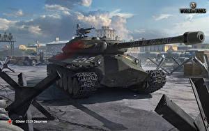Hintergrundbilder WOT Panzer Russische Object 252U Defender Spiele