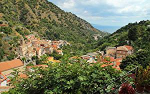 Bilder Italien Autonome Region Sizilien Haus Gebirge Ast Städte