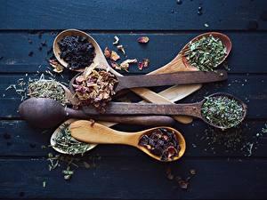 Hintergrundbilder Gewürze Löffel Hölzern Bretter Lebensmittel