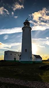 Fotos Sonnenaufgänge und Sonnenuntergänge Himmel Küste Leuchtturm Natur