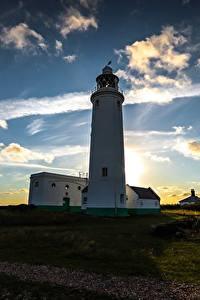 Fotos Sonnenaufgänge und Sonnenuntergänge Himmel Küste Leuchtturm