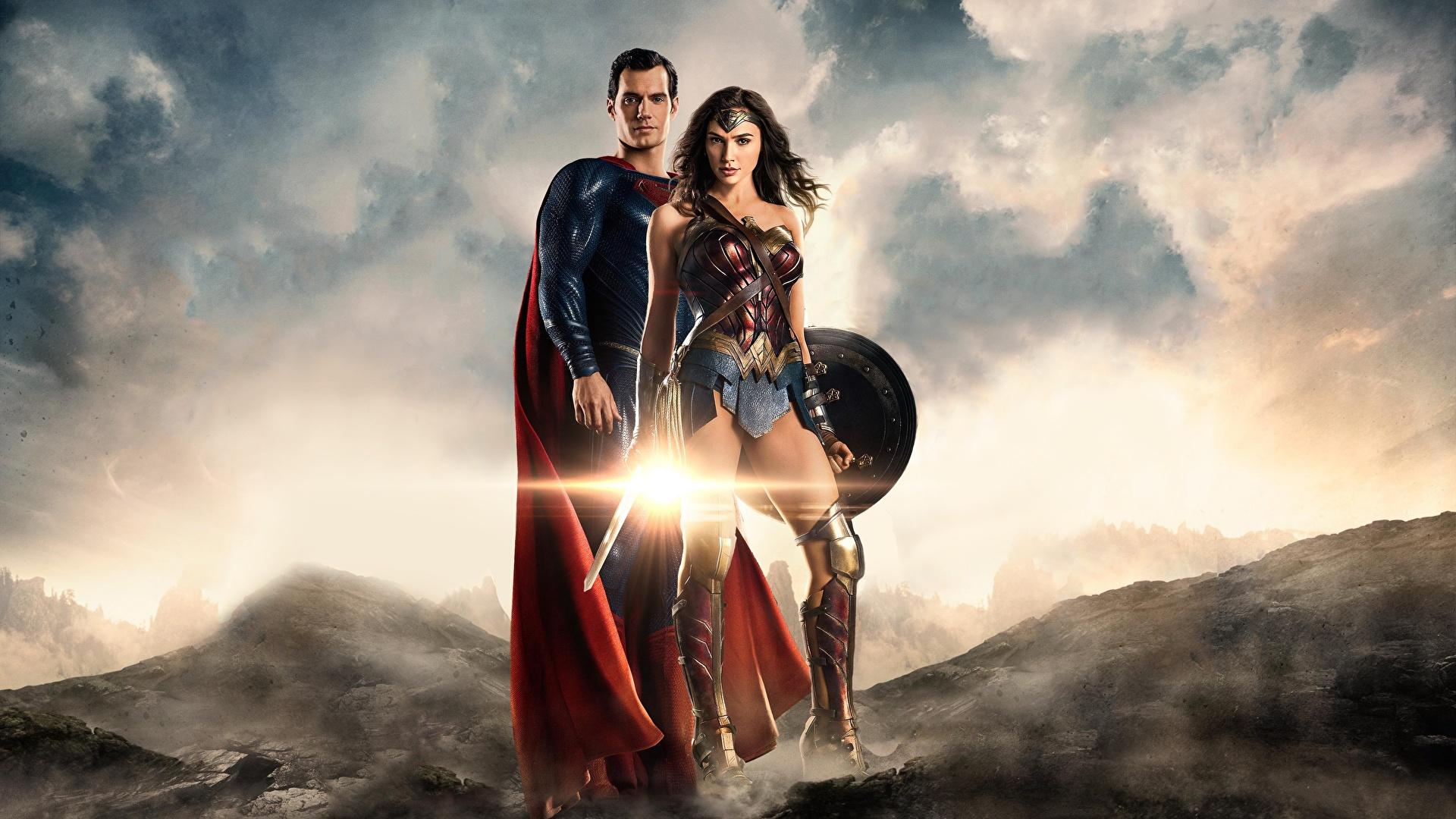 Photos Justice League 2017 Gal Gadot Henry Cavill Superman 1920x1080