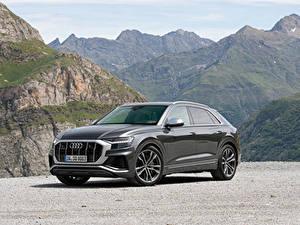 Hintergrundbilder Audi Graue Metallisch 2019 SQ8 TDI Worldwide Autos