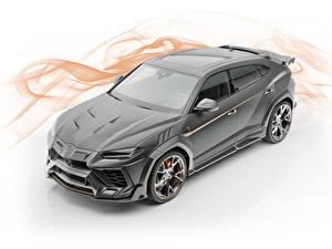 Hintergrundbilder Lamborghini Weißer hintergrund Grau 2019 Mansory Urus