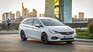 Hintergrundbilder Opel Weiß Metallisch 2019-20 Astra Sports Tourer Ultimate Autos