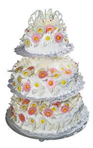 Bilder Süßigkeiten Torte Weißer hintergrund Design Hochzeit Wedding Cake Lebensmittel