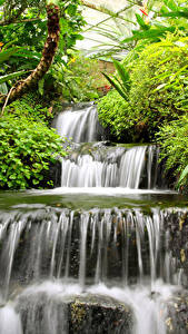 Pictures Waterfalls Nature