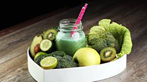 Hintergrundbilder Getränke Cocktail Gemüse Obst Äpfel Zitrone Weckglas Lebensmittel
