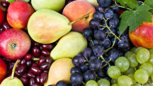 Pictures Fruit Grapes Apples Pears