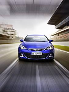 Bilder Opel Vorne Blau Astra, OPC, 2015 Autos