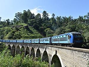 Wallpaper Sri Lanka Bridges Trains