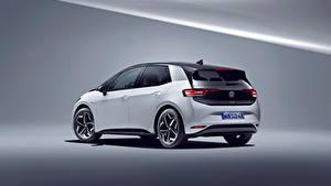 Bilder Volkswagen Weiß Metallisch ID.3 1ST Worldwide, 2020 automobil