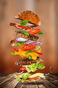 Hintergrundbilder Fast food Hamburger Brötchen Gemüse Fleischwaren Bretter