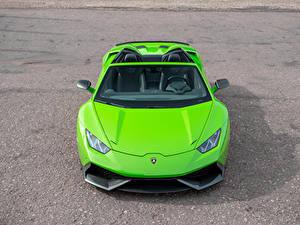 Hintergrundbilder Lamborghini Hellgrüne Roadster Vorne Novitec Torado