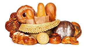Fotos Backware Brot Brötchen Weißer hintergrund